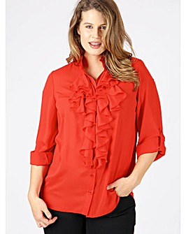 Lovedrobe GB frill front work blouse