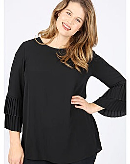 Lovedrobe GB pleated black top