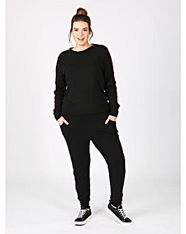 Koko black tracksuit bottoms with stripe