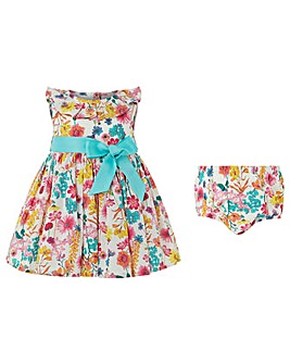 Monsoon Nb Baby Elouise Woven Dress