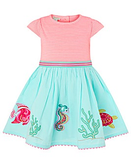 Monsoon Baby Lizzie Seahorse Dress