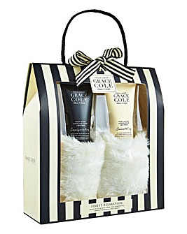 Grace Cole Toiletry Slipper Set