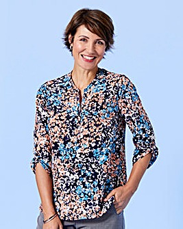 Slimma Floral Print Blouse