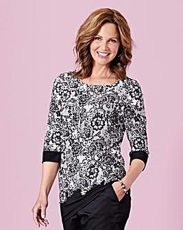 Lace Print Jersey Tunic