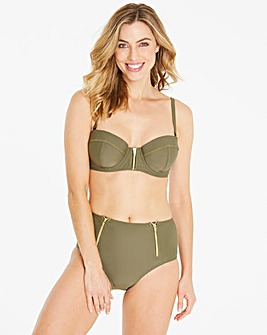 Beach to Beach Zip Front Bikini Top