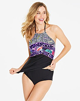 Simply Yours Panelled Halterneck Tankini