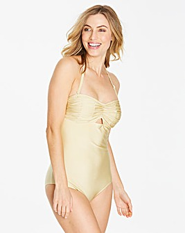 Simply Yours Ruched Bandeau Swimsuit