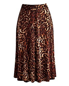 JOANNA HOPE Animal Print Jersey Skirt
