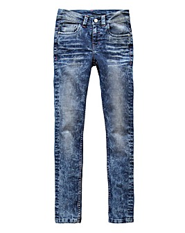 Girls Acid Wash Jeans