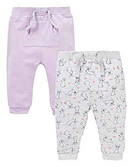 Baby Girl Pack of Two Joggers