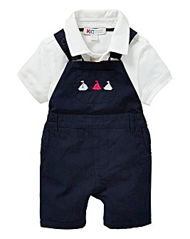 Baby Smart Dungaree and Polo Top