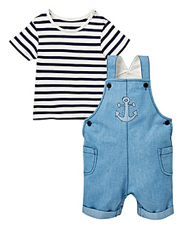 Baby Boy Dungaree and T-shirt Set