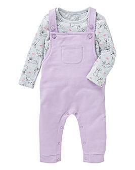 Baby Girl Dungaree Set