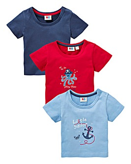 Baby Boy Pack of Three T-Shirts