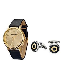 Fred Bennett Gents Watch & Cufflinks Set