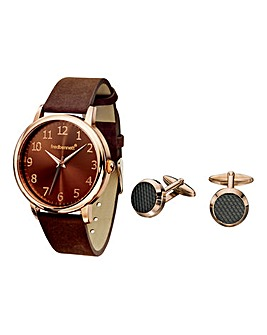 Fred Bennett Gents Watch & Cufflinks Set