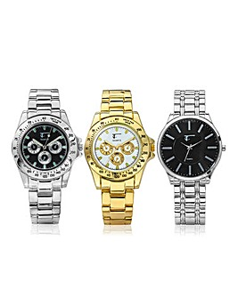 Gents Trio Bracelet Watch Set