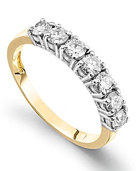 Moissanite 9 Carat Gold 1 Carat Ring
