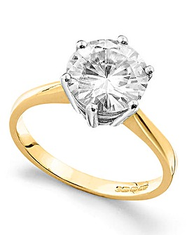 Moissanite 9 Carat Gold 3 Carat Ring
