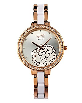 Eton Ladies Quartz Floral Watch