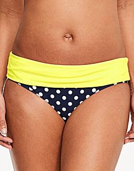 Figleaves Tuscany Spot Fold Bikini Brief