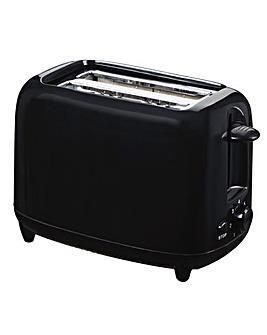Low wattage 2 slice black toaster