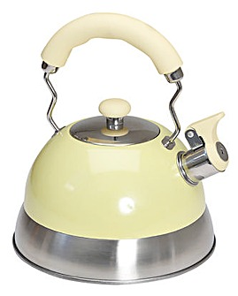 2.5L Polished cream whistling kettle