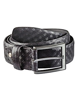 Black Label Checked Belt