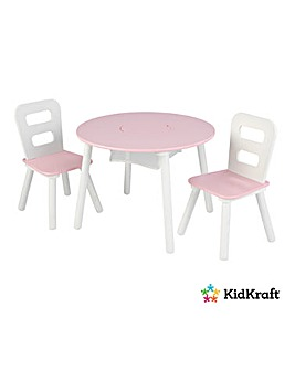 KidKraft Round Storage Table & 2 Chairs
