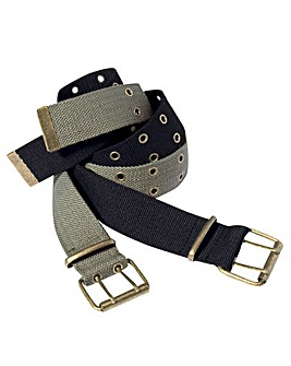 Williams & Brown Pack Of 2 Canvas Belts