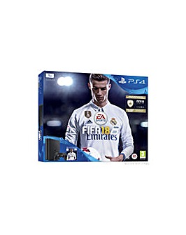 PS4 Slim 1TB Black Including FIFA 18