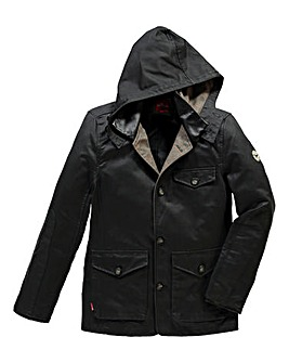 Le Breve 007 Brown Hooded Jacket