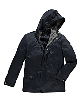 Le Breve Office Navy Hooded Jacket