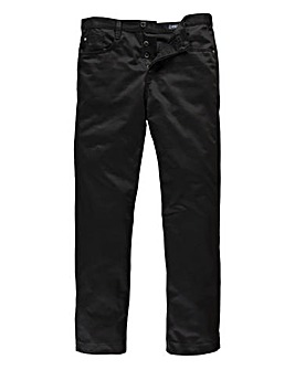 Peter Werth Black Twill Jean 31In Leg