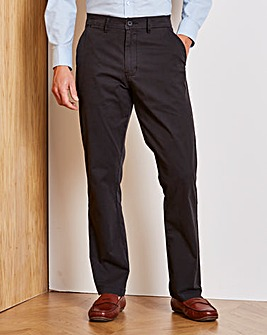 Capsule Black Stretch Chinos 35in
