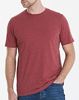Capsule Crew Neck Red Marl T-shirt Long