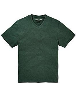 Capsule V-Neck Green T-shirt Regular