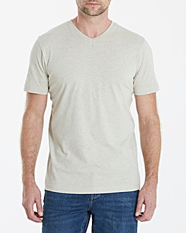 Capsule V-Neck Oatmeal T-shirt Regular