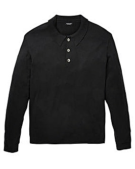Capsule Black Long Sleeve Knitted Polo R