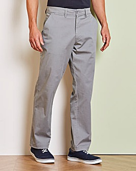 Capsule Grey Stretch Chinos 33in