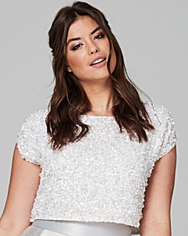 Coast Felicity Embellished Ivory Top