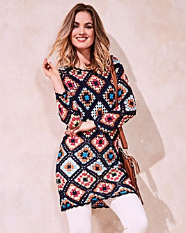 Knitted Crochet Tunic Dress