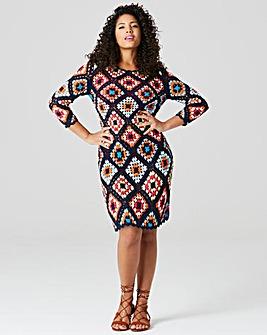 Knitted Crochet Tunic Dress