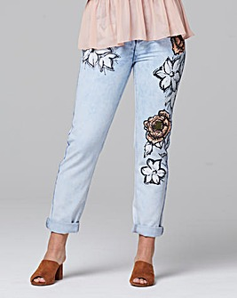 Alice & You By Glamorous Floral Jean