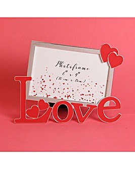 Love Cut Out Letters Photo Frame