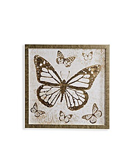 Arthouse Diamante Foil Bfly Framed Print