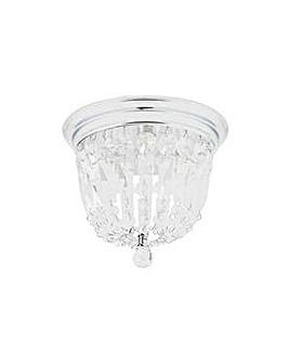 Glass Droplets Bathroom Light - Chrome