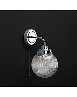 Kerridge Ribbed Glass Wall Light