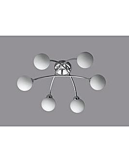 Broadford 6 Globe Ceiling Light
