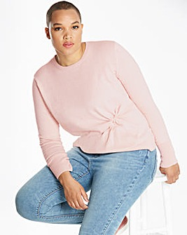 Wool Mix Twist Knot Jumper
